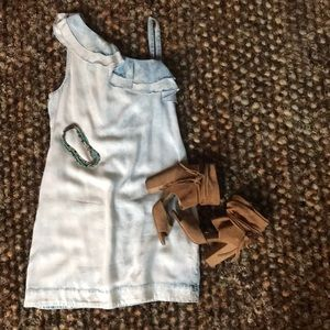 One Shoulder Ruffle Dress 🤩